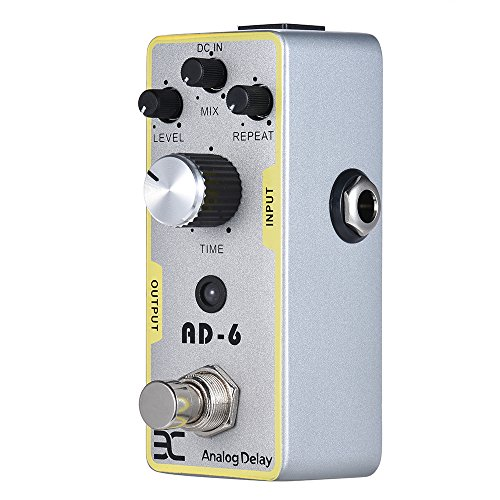 EX AD-6 Analog Delay Pedal Mini Delay Guitar Pedals with Plump Smooth New Delay Effects