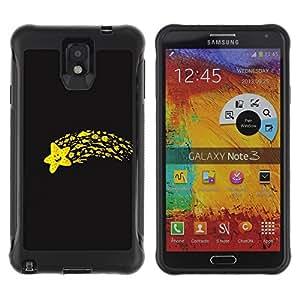 Pulsar Defender Series Tpu silicona Carcasa Funda Case para SAMSUNG Galaxy Note 3 III / N9000 / N9005 , Funny Flying Star