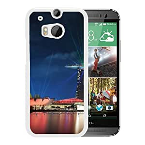 New Beautiful Custom Designed Cover Case For HTC ONE M8 With Singapore Gardens By The Bay Lights (2) Phone Case