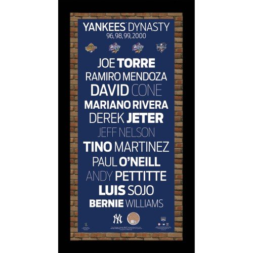 Steiner Sports MLB Subway Sign New York Yankees Champion Players (New York Yankees World Series Championships 1999)
