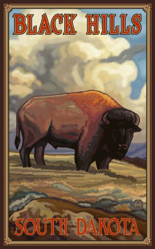 Northwest Art Mall Black Hills South Dakota Buffalo Artwork by Paul A Lanquist, 11-Inch by - Mall Hill South Washington
