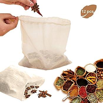 12Pack Reusable Soup Bags, Sportsvoutdoors Reusable Coffee Tea Brew Bags, Soup Gravy Broth Stew Bags, Tea Brew Bags[9.08.3in]