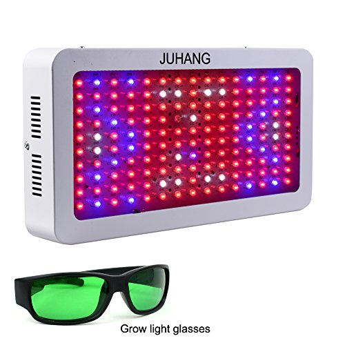 Flowering Glass (JUHANG 1500w Full Spectrum Plant Grow Light,LED Grow Light for Indoor Plant Flowering Growing and Greenhouse Hydroponics Growing System(Including LED Grow light Glasses))