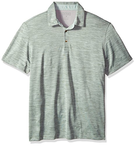 - Van Heusen Men's Short Sleeve Air Performance Space Dye Polo Shirt, Green Duffle Bag, Medium