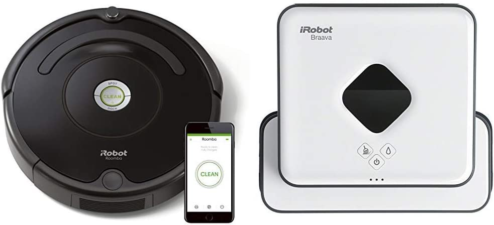 iRobot - Set con Roomba 671 Robot Aspirador para Suelos Duros y Alfombra, Tecnología Dirt Detect, WiFi