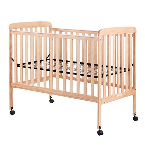 Costzon Baby Convertible Crib Toddler Bed Infant Nursery Furniture Wooden (Natural Wood) ()