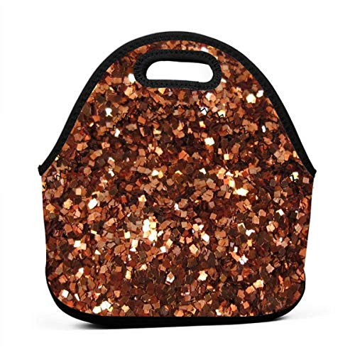 - HTHR Bling Sequins Lunch Bag Cute Reusable Portable Insulated Lunch Bag Outdoor Picnic Food Bag for Kids, Boys, Girls, Women and Men