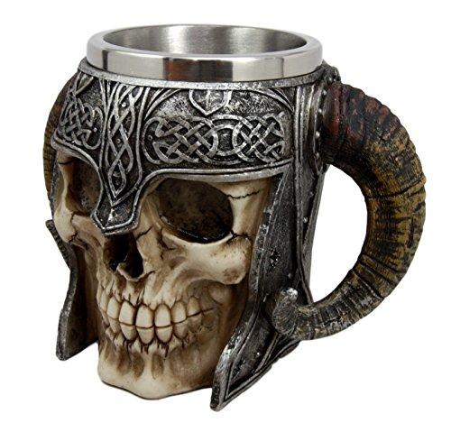 warrior skull beer mug