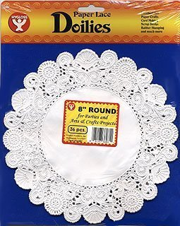 Hygloss 12-Inch Round White Doilies, (Round White Food)