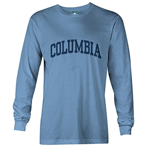 Columbia University Long Sleeve T-Shirt by Ivysport – Classic Logo, 100% Cotton, Light Blue, Long Sleeve T-Shirt