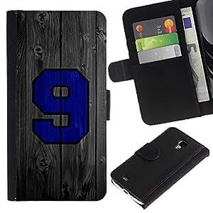UNIQCASE - Samsung Galaxy S4 Mini i9190 MINI VERSION! - 9 Wood Sports Team - Cuero PU Delgado caso cubierta Shell Armor Funda Case Cover