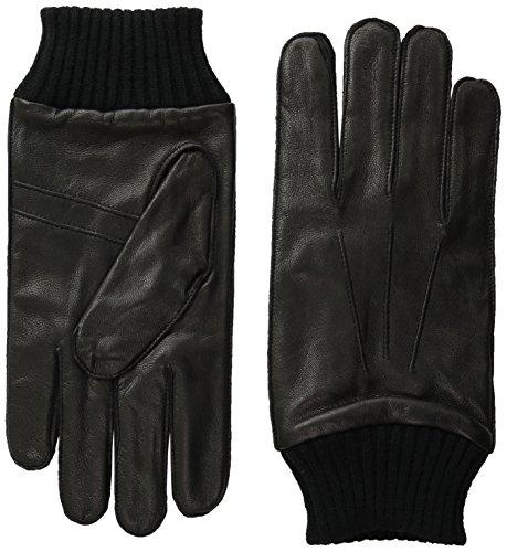 ben-sherman-mens-leather-glove-w-knit-trim-black-l