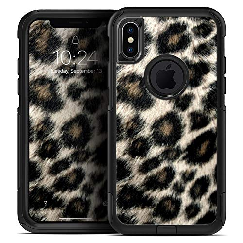 Light Leopard Fur - Skin Decal Kit for The iPhone 7 + Plus or iPhone 8 + Plus OtterBox Defender Case