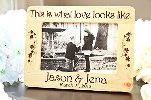 Personalized Picture Frame - This is What Love Looks - What Ray A Is Ban