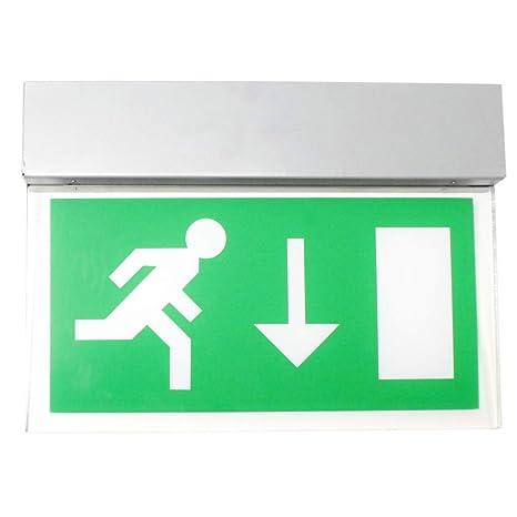 PrimeMatik - Cartel colgante de salida de evacuación LED ...