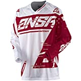 Answer Racing A18.5 Syncron Air Big Boys' Off-Road Motorcycle Jersey - White/Red / Medium