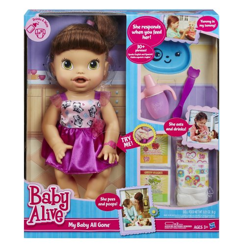 51BDrZ9tZCL - Baby Alive My Baby All Gone Doll, Brunette (Discontinued by manufacturer)