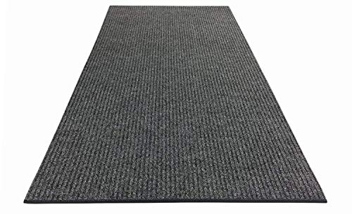 RugStylesOnline Tough Collection Custom Size Roll Runner Grey 27 in or 36 in Wide x Your Length Choice Slip Resistant Rubber Back Area Rugs and Runners (Grey, 27 in x 9 ft) ()