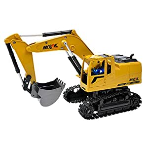 Blesiya 1:24 Electric RC Remote Control Excavator Construction Truck Toy for Kids