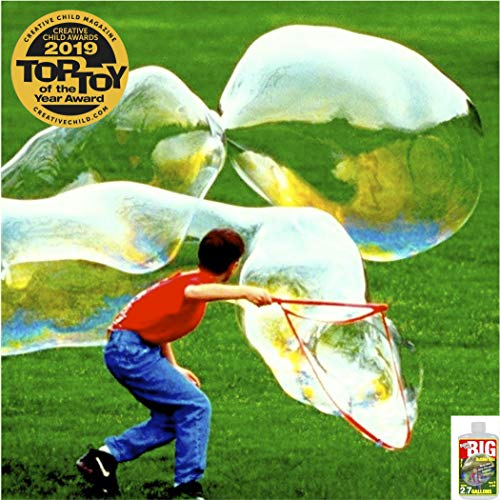 BUBBLE THING Giant Bubbles Wand and Mix | Large Bubble Wand Toy for Kids | Make Huge Strong Colored Bubbles | Mix Makes 2.7 Gallons Bubble Solution | Great Outdoor Easy Fun Toy for Girls, Boys, Family