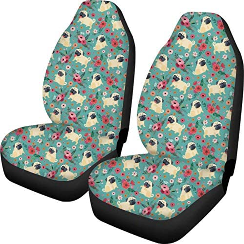 ORGYPET Full Set of Black Car Seat Covers Pineapple Printed Front and Back Seats for Family Travel Fits Most Cars Perfect Choice to Decorate Your Car Front Seats