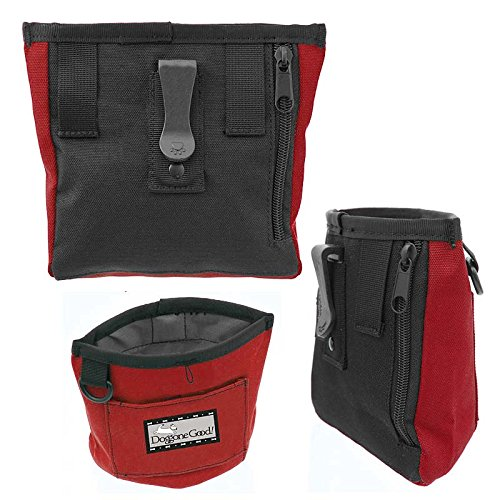 Doggone Good Trek & Train Bait Bag with Belt from Professional Quality (Black)