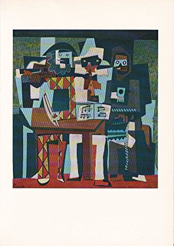 "1955 Vintage ""THREE MUSICIANS"" by PABLO PICASSO Color, used for sale  Delivered anywhere in USA"