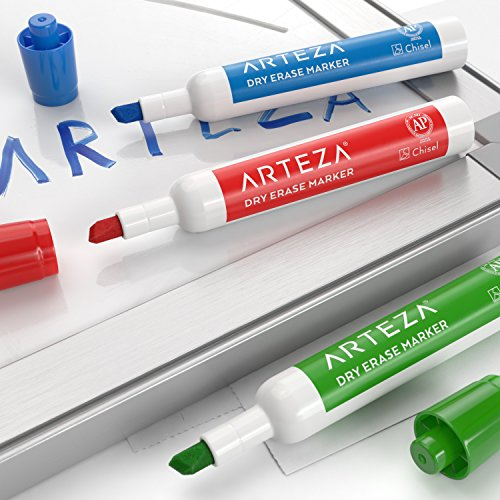 Arteza Dry Erase Markers, White Board Pens, 12 Colors, Multicolor, Set of 48 Photo #3