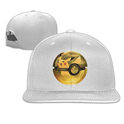 Ogbcom Pokemon Go Pikachu Snapback Adjustable Flat Baseball Cap/Hat For Unisex