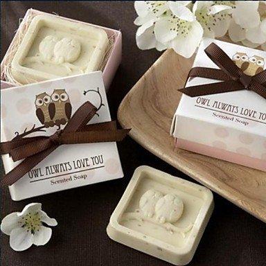Holiday Gifts Mini Owl Shape Soap (Random Color) Bath