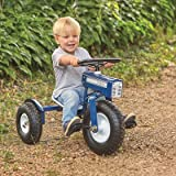 Tricam GCK-31 Kids Tractor Tricycle with Adjustable Seat, Steel Construction, Real Pneumatic Tires