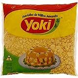 Yoki - Yellow Corn Flour - Harina de Maiz Amarillo - 17.64 Oz (PACK OF 2) | Farinha de Milho Biju Amarela - 500g