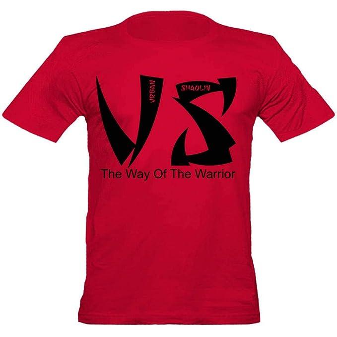 Los hombres de Shaolin urbanas ampliación de foto urbana Shaolin camiseta cabida, Pequeño, Rojo