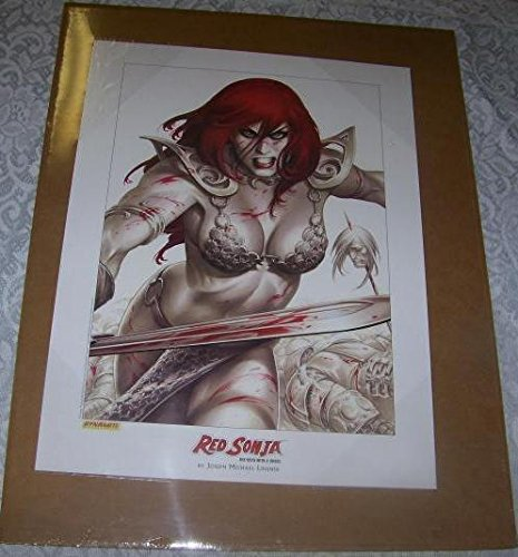 Book Poster Red (RED SONJA poster/print by Joseph Linsner, 2005, New, unused, ready for a frame)