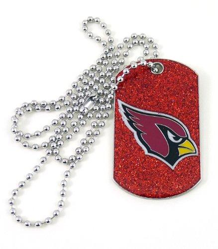 NFL Arizona Cardinals Glitter Dog Tag
