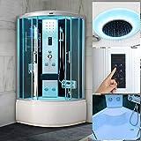 Bocy Boon Steam Shower Quadrant Hydro Cubicle Enclosure Bath Corner Cabin Room Black