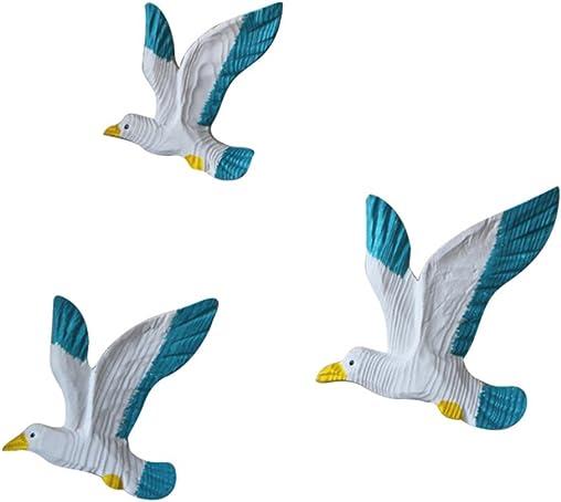Skyseen 3Pcs Mediterranean Style Creative Seagulls Birds Seabirds Marine Wall Hanging Decoration