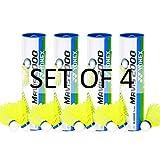 Yonex Mavis 2000 Nylon Yellow Badminton Shuttlecock (4 tubes pkg)