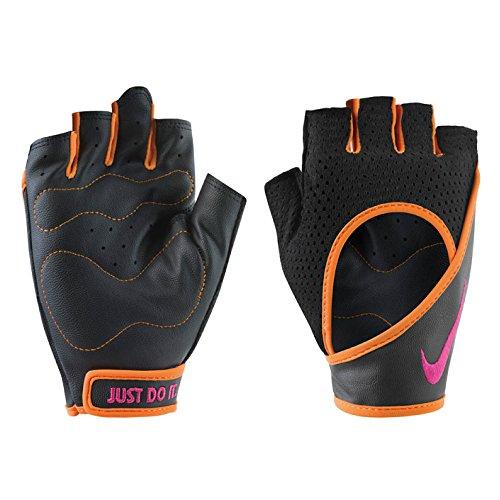 Perf Wrap - NIKE Women's Perf Wrap Training Gloves (Medium, Black/Bright Mandarin/Vivid Pink)