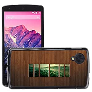 Super Stellar Slim PC Hard Case Cover Skin Armor Shell Protection // M00050927 wall water aero picture wood // LG NEXUS 5