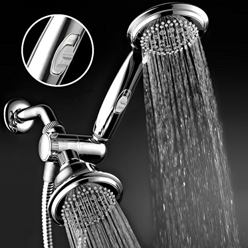 HotelSpa 1465 Fba Ultra Luxury 42 Setting Head/Handheld Shower Combo with Patented on/Off Pause Switch and 5-7 Foot Stretchable Stainless Steel Hose/Premium, Chrome by HotelSpa (Image #1)