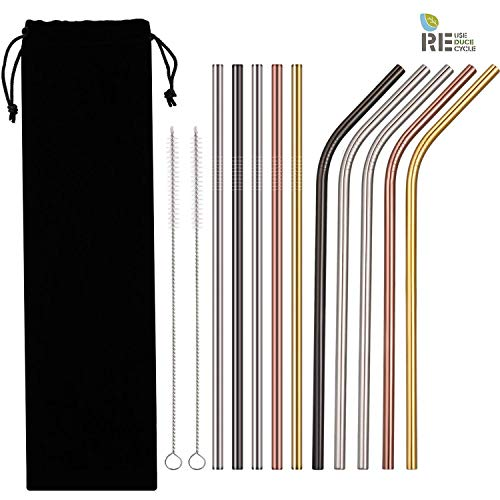 Stainless Steel Straws 12 pc