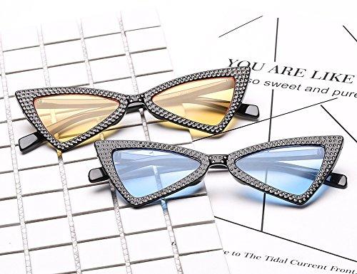 93b156c8c265 Clout Goggles Small Cat Eye Sunglasses Bold Retro Mod Diamond-set Triangle  Eyewear. 54 Millimeters-Grey Lens Pink Frame