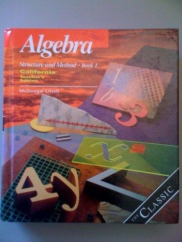 Price comparison product image Algebra Structure And Method Book 1 (CA) (TE)