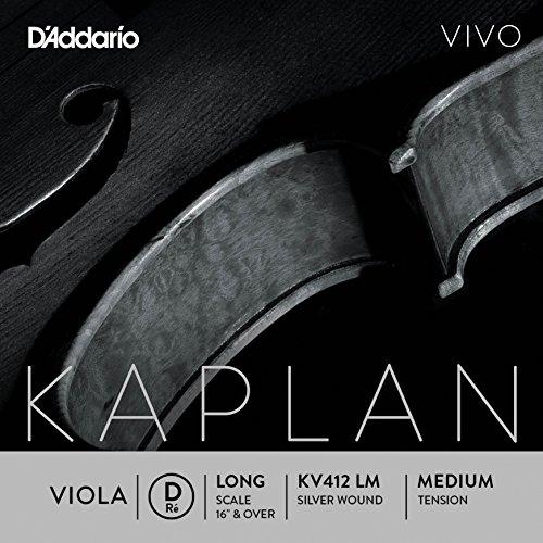 D'Addario KV412 LM Kaplan Vivo Viola D String by D'Addario Woodwinds
