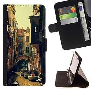 For Samsung Galaxy S5 Mini (Not S5), SM-G800 Case , Kondola River Street Summer Sun- la tarjeta de Crédito Slots PU Funda de cuero Monedero caso cubierta de piel
