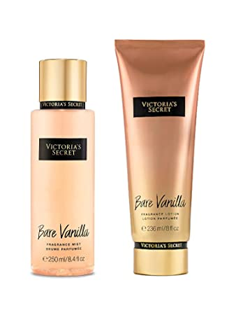 41621a6390c Image Unavailable. Image not available for. Color  Victoria s Secret Bare  Vanilla Fragrance Lotion and Body Mist Set