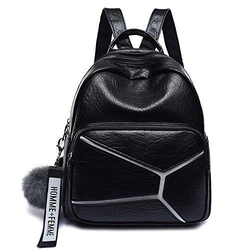 Trend Bandoulière Dos étudiant Mode à Black Sacs Pratique à De Mme Sac D'école Voyage Portable Sacs Sac 0wTxdn
