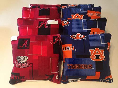 BestSeller989 Alabama Crimson Tide Auburn Tigers Iron Bowl Cornhole Bean Bags 8 Tailgate TOSS ()