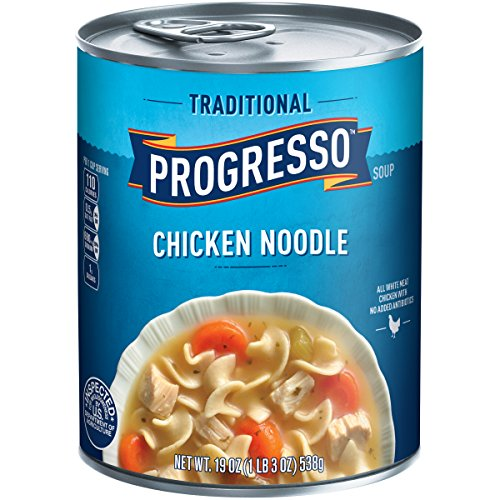 Progresso Soup, Traditional, Chicken Noodle Soup, 19 oz Can (Noodle Chicken Soup Flavor)